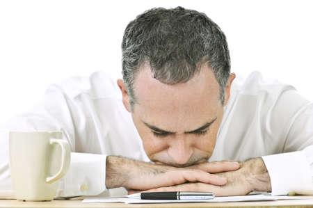 Businessman taking a break at his desk Stock Photo - 4184566