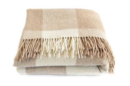 alpaca: Soft and warm folded alpaca wool blanket with fringe