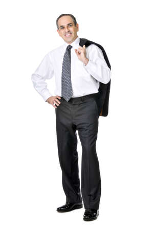 Smiling business man in suit isolated on white background Stock Photo - 4343652