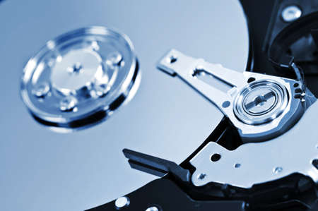 Closeup of hard disk drive internal components Stock Photo - 4861974