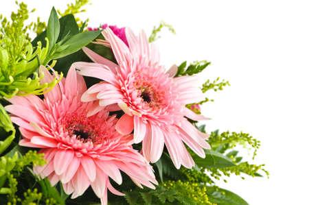 Close-up van bloemen overeenkomst met roze gerbera