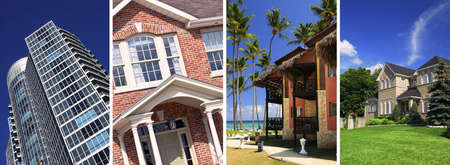 Collage of different types of real estate photo