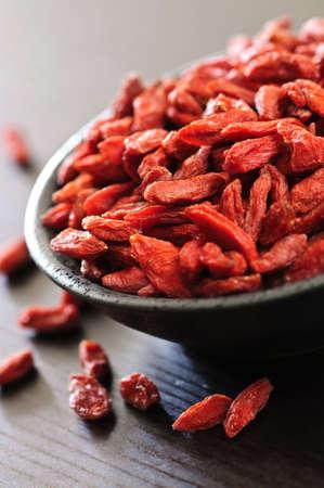 tibet bowls: Full bowl of red dried goji berries