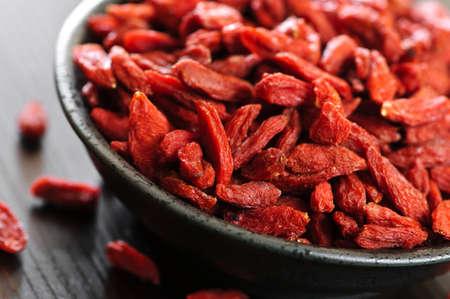 goji: Full bowl of red dried goji berries