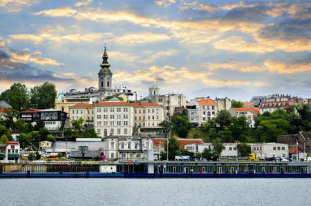 serbia: View of Belgrade city from Danube river Stock Photo