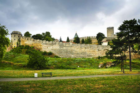 walking path: Kalemegdan fortress in Belgrade with walking path