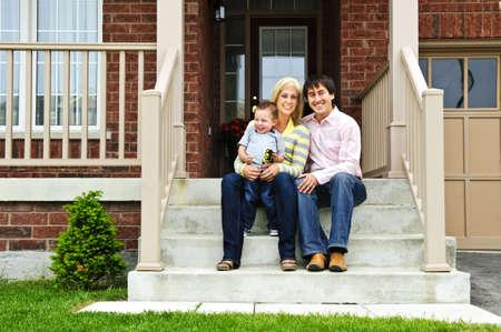 brick: 年輕一族坐在屋前的步驟