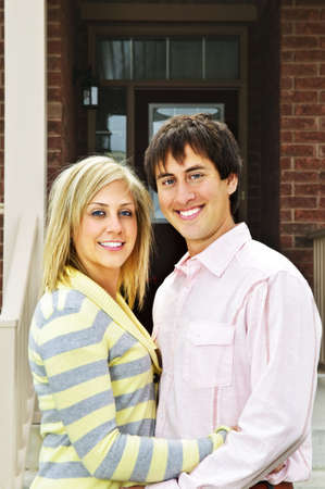 Young happy couple in love at home Stock Photo - 5395633