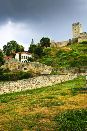 serbia: Walls and towers of Kalemegdan fortress in Belgrade Serbia