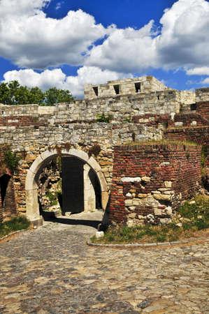 serbia: Walls and towers of Kalemegdan fortress in Belgrade Serbia