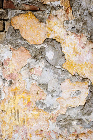 decaying: Old weathered painted wall for grunge background Stock Photo