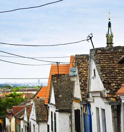 serbia: Old building roofs in Zemun part of Belgrade, Serbia