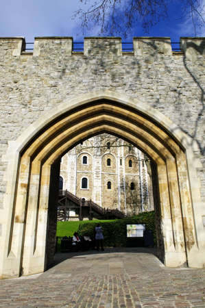 britannia: Tower of London historic building in England Stock Photo