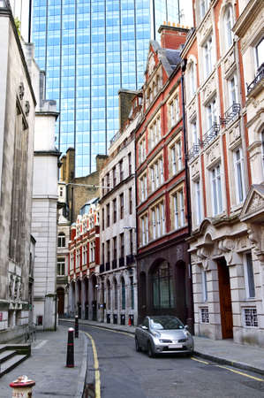 town modern home: Old and new buildings in city of London Stock Photo