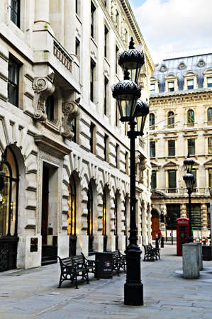 europeans: Old buildings on pedestrian street in city of London Stock Photo