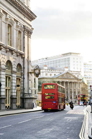London street with view of Royal Exchange building photo
