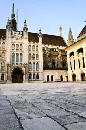 guildhall: Guildhall building and Art Gallery in City of London Stock Photo