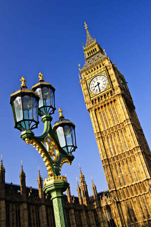 large house: Big Ben and Houses of Parliament in London