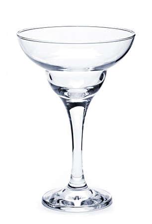 margarita glass: Empty margarita glass isolated on white background Stock Photo