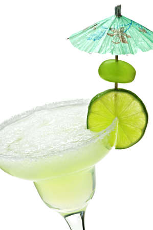 Margarita in glass with lime isolated on white background Stock Photo - 5801276