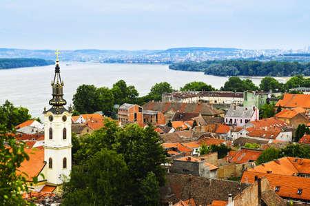 Alte Gebäude Dächer in Zemun Teil der Belgrad, Serbien
