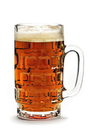 Full beer glass isolated on white background photo