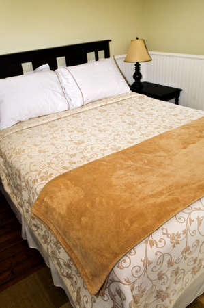 comfortable: Bedroom interior with comfortable queen size bed