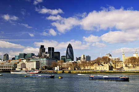 Tower of London skyline  view from Thames river photo