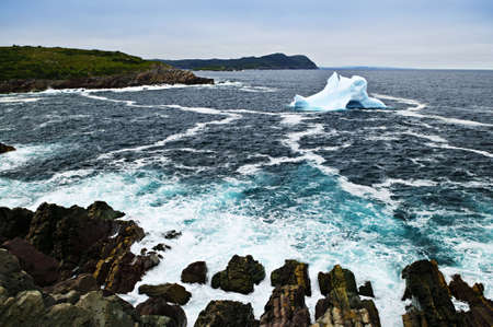 Melting iceberg off the coast of Newfoundland, Canada Stock Photo - 6031786