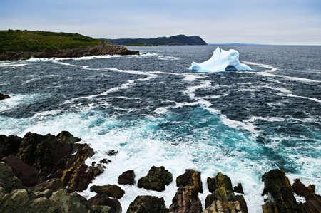nfld: Melting iceberg off the coast of Newfoundland, Canada