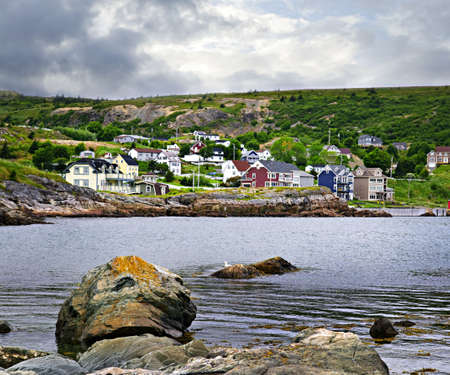 Quaint seaside fishing village in Newfoundland Canada photo