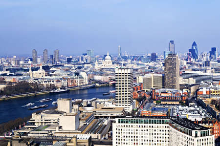 britannia: Cityscape view of buildings and Thames River from London Eye
