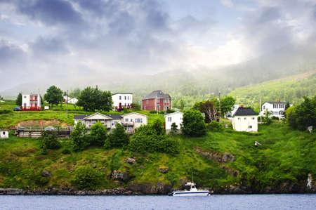 Newfoundland: Quaint seaside fishing village in Newfoundland Canada Stock Photo