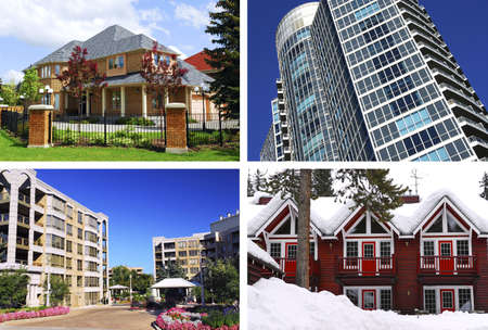 timeshare: Collage of different types of real estate