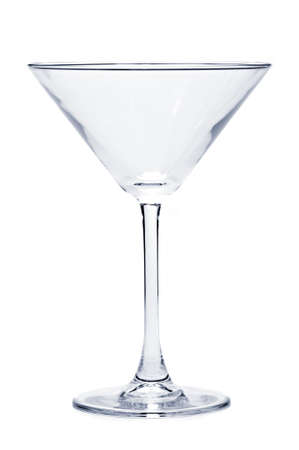 empty: Empty martini glass isolated on white background