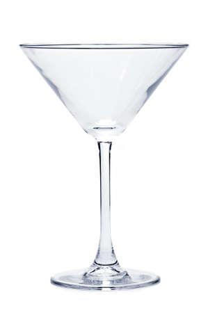 copa martini: Vaso de martini vac�a que se aisl� en fondo blanco