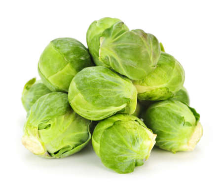 brussels sprouts: Bunch of green brussels sprouts isolated on white background