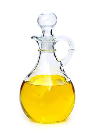 Sunflower oil bottle isolated on white background photo