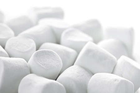 marshmallows: Close up of many plump sweet marshmallows