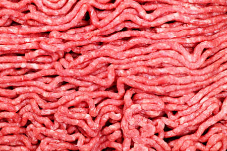 Close up of lean red raw ground meat photo