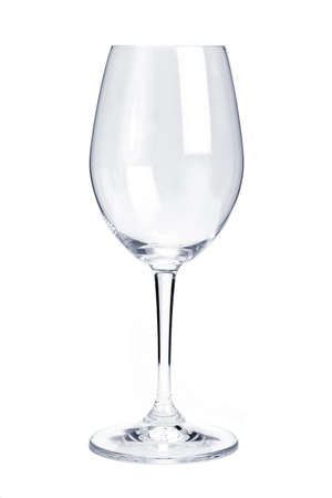 empty: Empty red wine glass isolated on white background