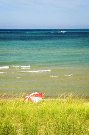 pinery: Sand dunes at beach. Pinery provincial park, Ontario Canada Stock Photo