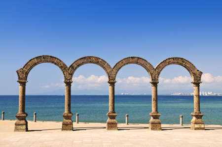 puerto: Los Arcos Amphitheater at Pacific ocean in Puerto Vallarta, Mexico