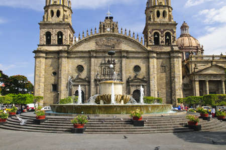 guadalajara: Cathedral in historic  center in Guadalajara, Jalisco, Mexico
