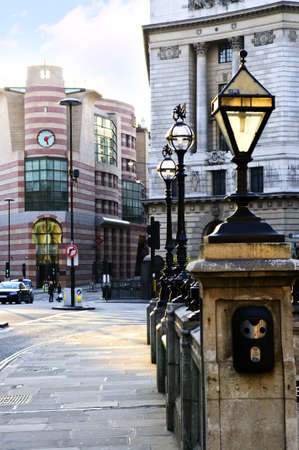 old english: Entrance to Bank tube station in London