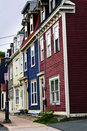 Colorful houses in St. John's, Newfoundland, Canada Stock Photo - 7372945