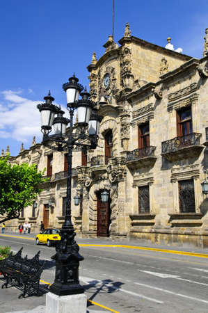 State Government Palace seen from the Zocalo in historic Guadalajara downtown center, Jalisco, Mexico Stock Photo - 7701790