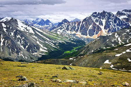 Scenic view from Whistlers Mountain in Jasper National park, Canada Stock Photo - 7776393