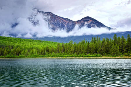 Patricia Lake and Pyramid Mountain in Jasper National Park, Canada Stock Photo - 7776491