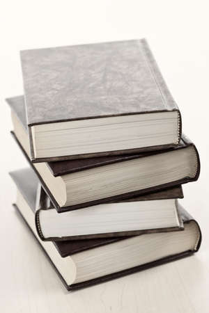 Stack of old hard cover leather bound books Stock Photo - 8338253
